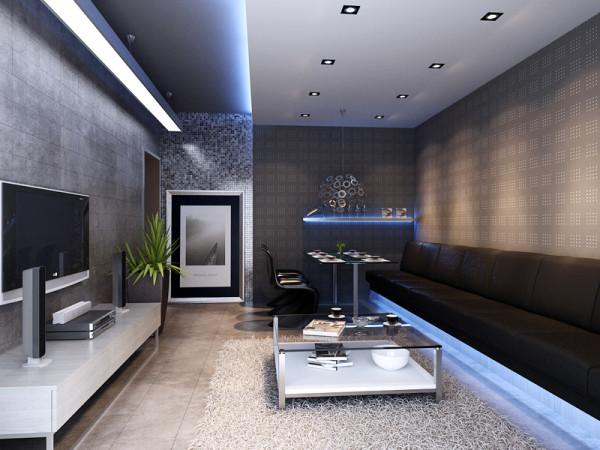 客厅的亮点在于沙发和餐椅进行了连接,因为客户的朋友非常多,经常来他家聚会,但是现在的沙发非常小,让他很苦恼,经常做三个朋友就没有地方可以做了,这次的设计把他的沙发和餐椅连接