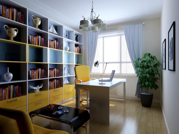 书房颜色以明快为主。