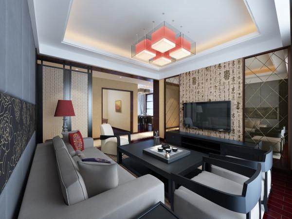 客厅与电视背景墙