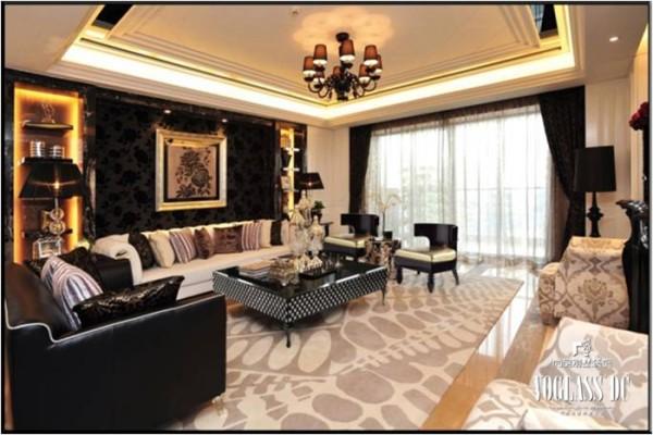 尚层装饰 演绎温馨、高雅的简欧风格 客厅设计,从整体到局部,精雕细琢,镶花刻 金都给人一丝不苟的印象。