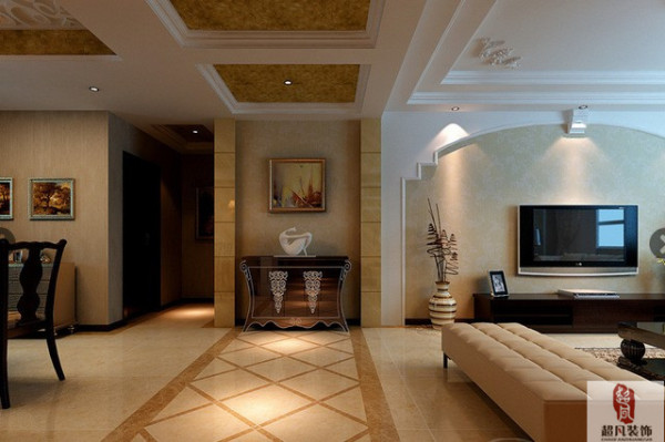 沪上名家装饰-瀚海泰苑三室欧式风格-客厅