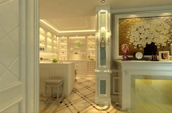 休闲为主的品酒房,功能设置吧台,储物柜等