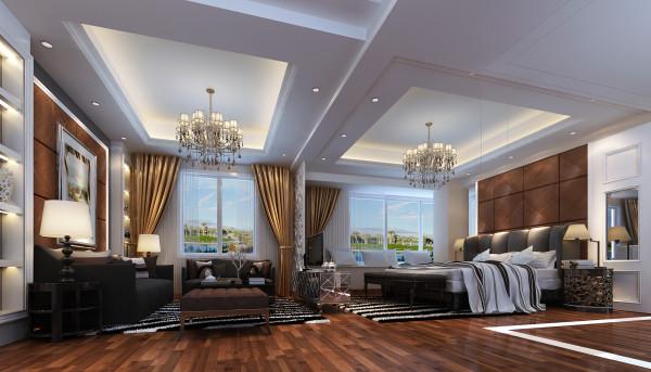 设计理念:卧室的功能区设计是主人着重提到的地方,除了普通的睡眠区之外,增设了小型起居室、独立书房及独立衣帽间。各功能区相互连接而又不会影响彼此