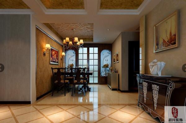 沪上名家装饰-瀚海泰苑三室欧式风格-餐厅