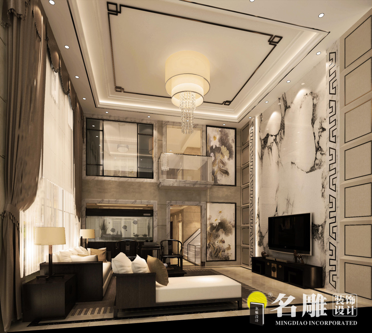 新中式别致家居欣赏|效果图|图片|大全