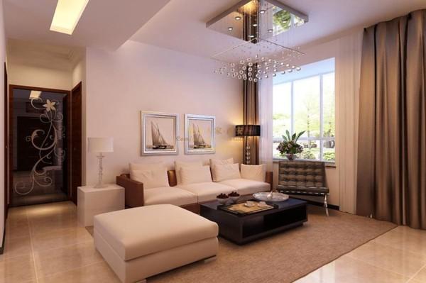 西安城市人家-宏林尚品-现代简约-92平米二居室装修设计