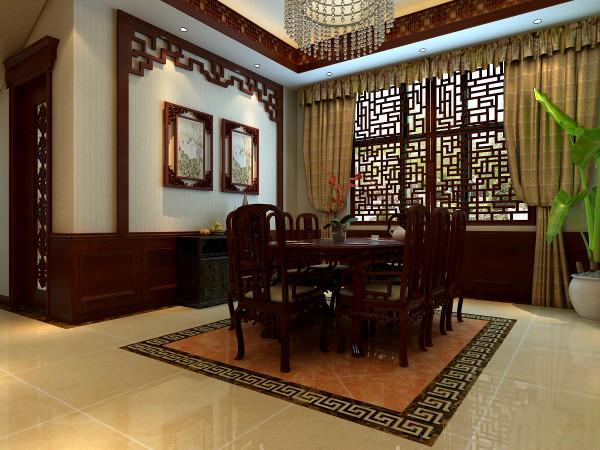 中式地餐桌、餐椅