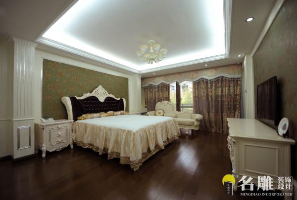 名雕装饰设计——卧室:色调清爽,温馨让人安静和放松。