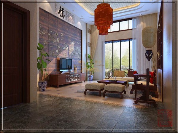 西安城市人家-世家星城-中式风格-230平米复式装修设计