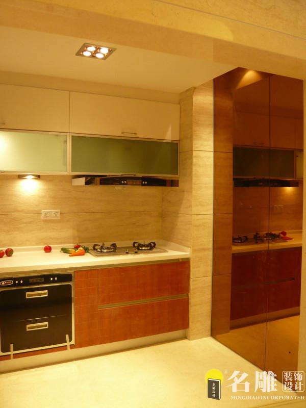 名雕装饰设计——厨房:设计功能布局十分到位,居家实用。