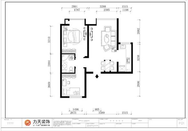 户型分析   金隅悦城二期洋房H1户型标注层户型图2室2厅1卫1厨 75.00㎡   这是一套小巧精致的户型,进入大门,左手边是一间卫生间,卫生间左右两侧分别连接着主次卧室。