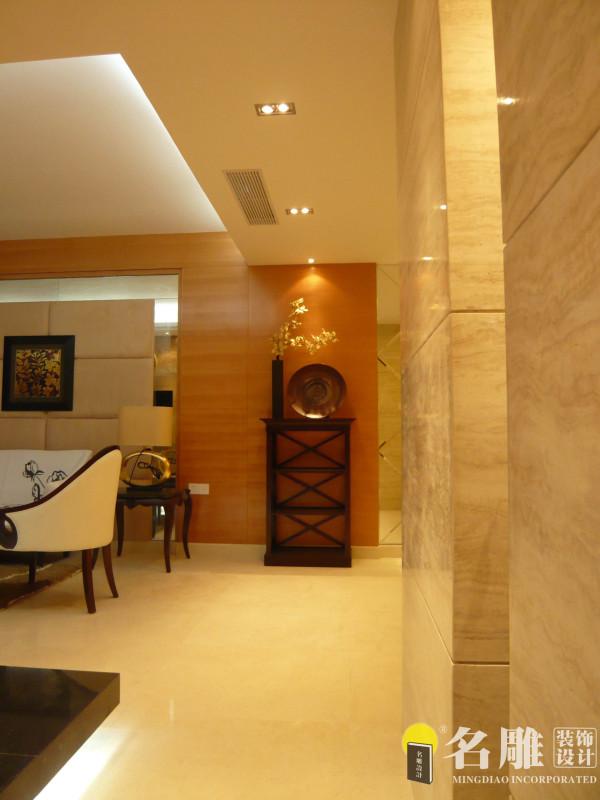 名雕装饰设计——拐角处:利用镜面和柔光处理让规整的空间丰富开来