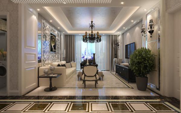 瀚海泰苑131平米客厅装修效果图