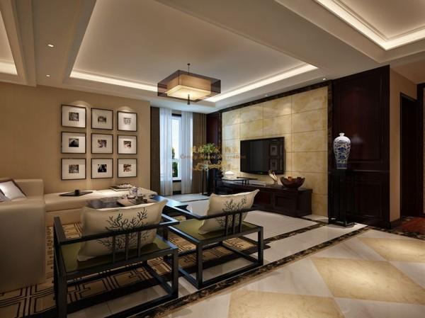 西安城市人家-白桦林间-中式风格-153.55平米三居室装修设计
