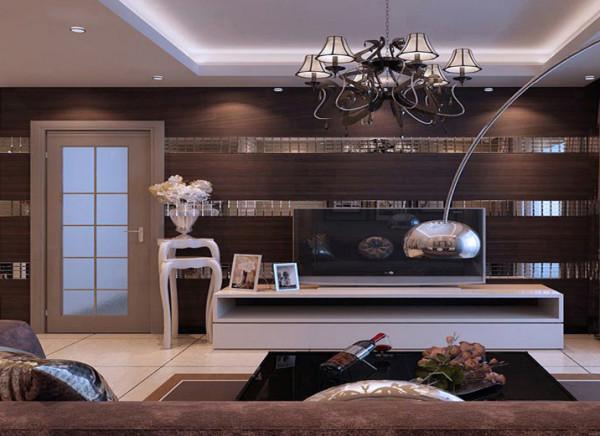 客厅是为了款待宾客和请客朋友用的,在材料挑选上多倾向于较硬、光挺、华丽的原料。沙发后装饰画与墙漆相辅相成,电视墙配以电视机,舒服大方。