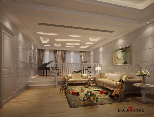 名雕丹迪设计——休闲区:精致沙发,钢琴让整个休闲区奢华但却充满知性。