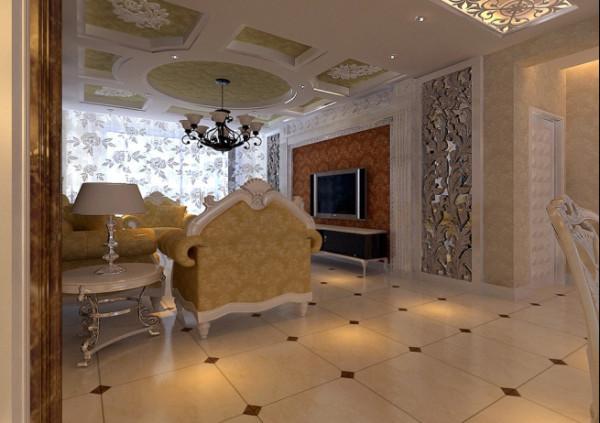 欧美风格-客厅整体设计
