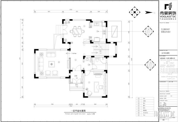 尚层别墅装饰 艾力枫社  经典的北欧风情 户型图