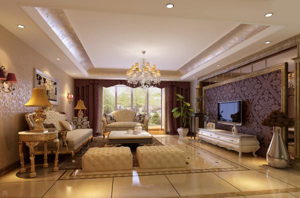 在配饰上,金黄色和棕色的配饰衬托出古典家具的高贵与优雅,赋予古典美感的窗帘和地毯