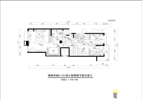 珊瑚天峰三居室户型图