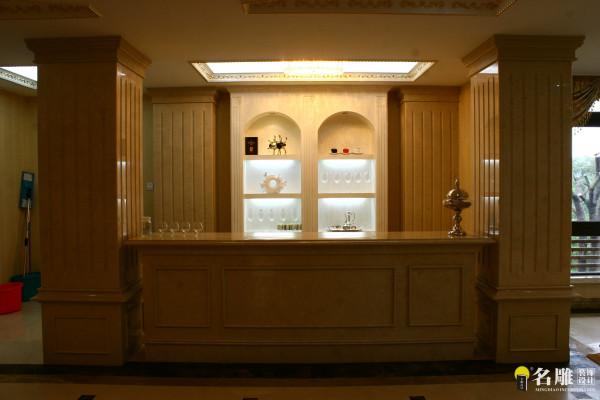 欧式风格500平奢华别墅装修——吧台区