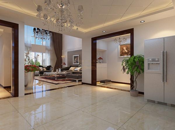 顶面的勾缝使的顶面立体感十足,镂空的墙壁并且虚实结合显得空间的更加活跃,给人一种舒心悦目的感觉,放松自然。