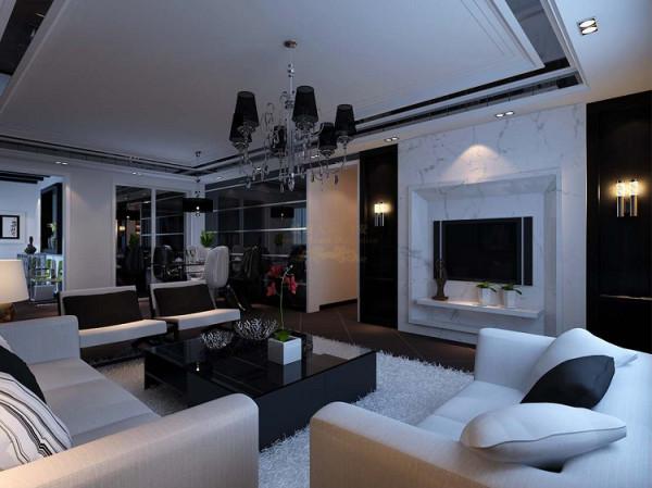 在设计上面,电视背景墙的独特设计和搭配是整个房间的亮点,餐厅采用大面积的黑镜。