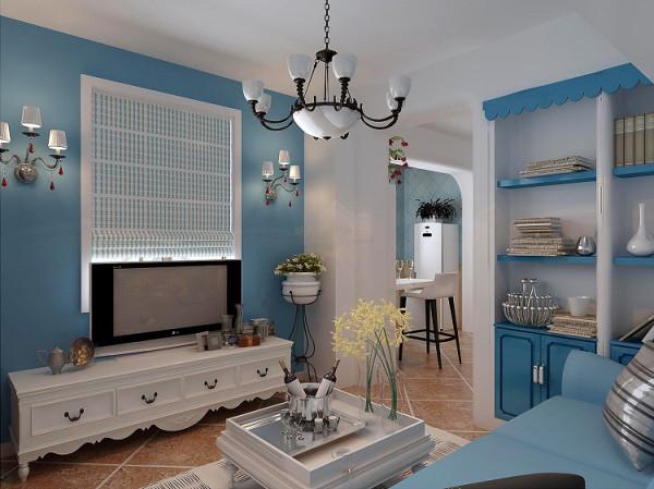 房间大面运用蓝色,以达到足够的地中海视觉冲击力!