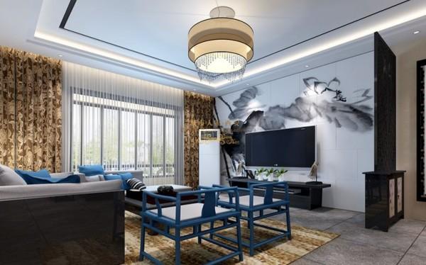 西安城市人家-平凉电厂家属院中式风格装修设计