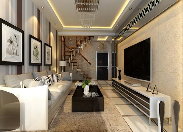 客厅及楼梯效果