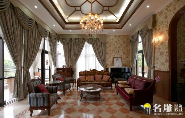 名雕装饰设计作品——客厅