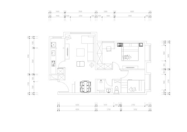 户型分析:   此户型布局规整,空间分布合理。此户型为全阳面户型客厅和一间卧室在阳面采光极好。给人很好的感觉。卫生间空间大小分配合理,位置也很好,使用便利。