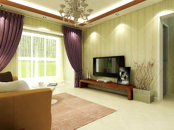 墙面浅色竖条纹的壁纸,给人温馨、雅致的感觉