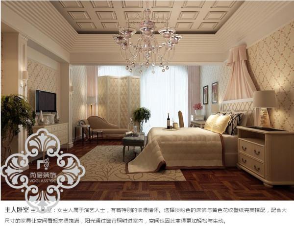 天津尚层装饰 领事郡卧室效果图
