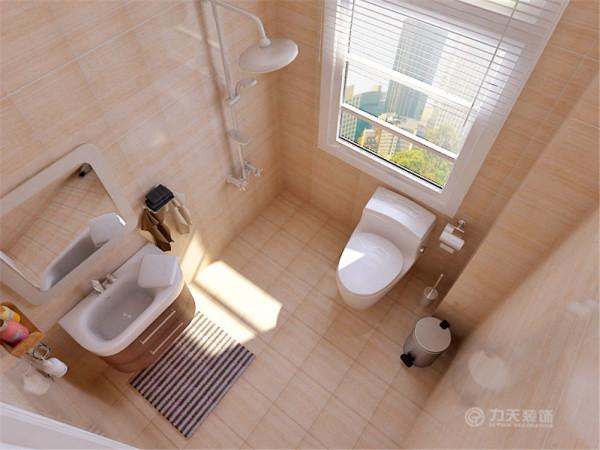 通过过道走廊 是卫生间,卫生间摆放坐便器、花洒还有洗手盆。