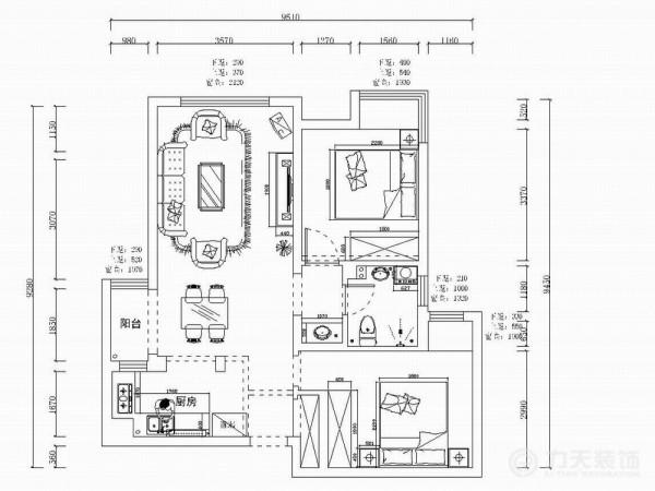 户型分析     本案为保利玫瑰湾户型图两室两厅一厨一卫120㎡的户型。从片面效果图来看,以顺时针方向走,入户门左边即为厨房,右手边是主卧,往前走左手边就是客餐厅,宽敞明亮,采光极好。