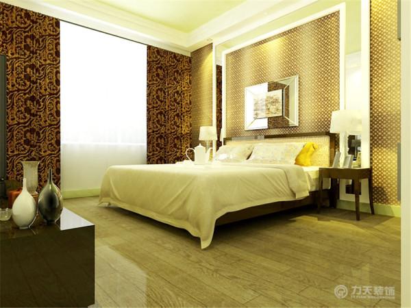卧室设计与客厅相呼应,使之效果更整体。