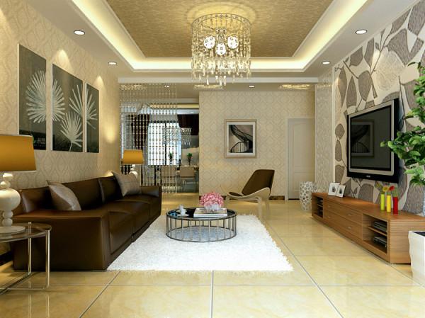客厅首先采用了地面铺设地砖,虽然给人会有一种偏冷的感觉,不过在灯光上及配饰上可以采用暖色调的给以补充。如此一来会减少冷色调的覆盖, 还可以让整个空间得以平衡。