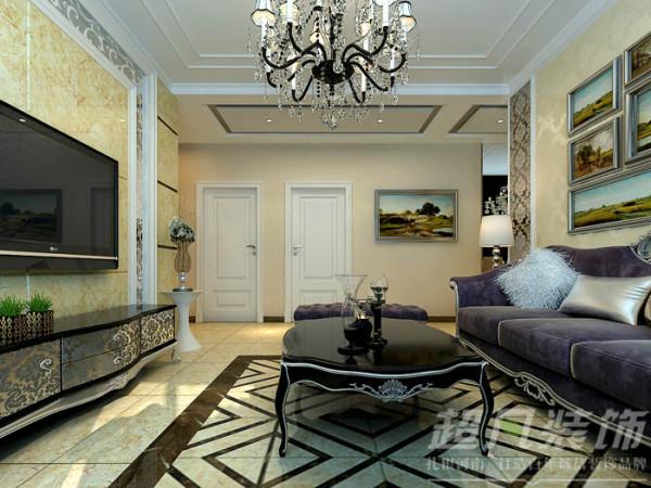 鑫苑世纪东城114平米两室两厅欧式风格装修效果图案例