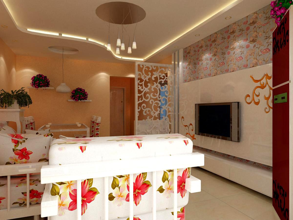 客厅木线条装饰