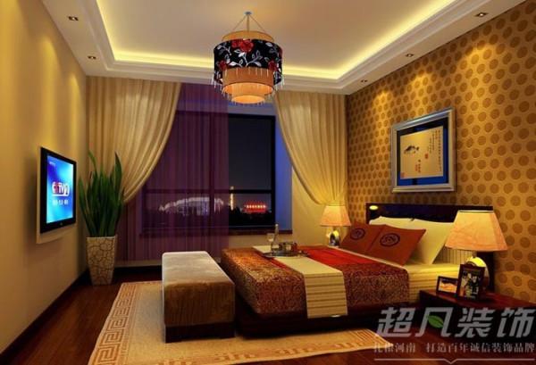 公园大地135平米三室两厅中式风格装修效果图案例