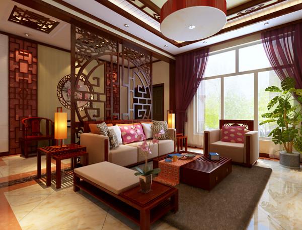 """使门厅和客厅在功能相对独立的基础上视觉空间相互渗透,门厅地面""""S""""型的地砖拼花方式,给人一种无境的畅想。"""