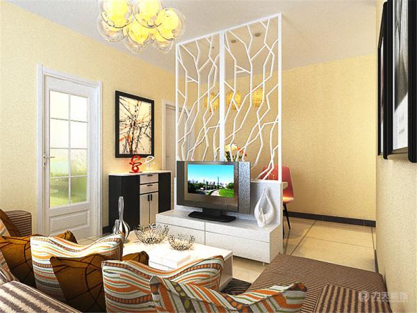 电视背景墙选择了大气稳,电视柜选用了白色烤漆的材质