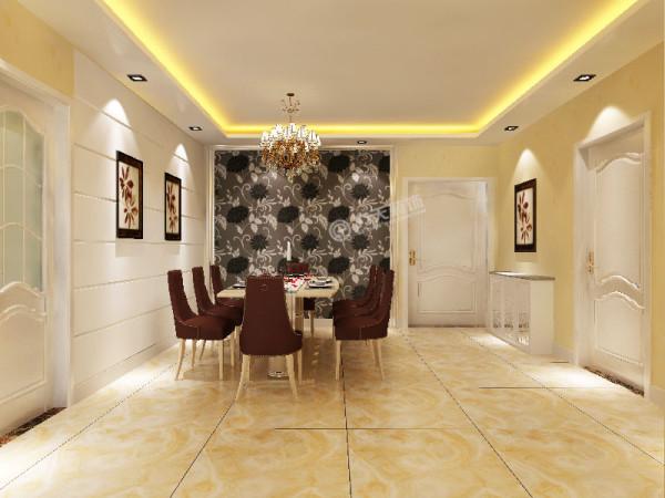 餐厅与厨房之间的活动的推拉门,既能分割空间,又能隔绝油烟进入客餐厅。