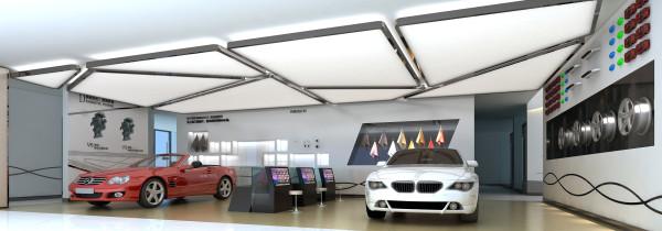 汽车展示区