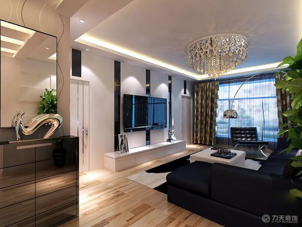 漂亮的吊灯,奢华抢眼的电视背景墙。