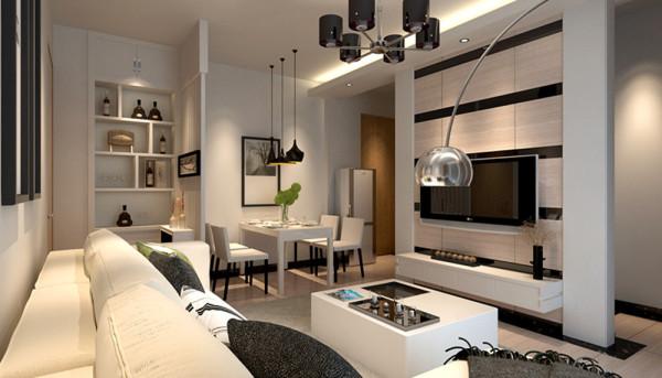 设计理念:客厅现代温馨、以白色色调为主,淡黄和黑色为辅,简约不失时尚的感觉,很轻松淡雅的环境。亮点:电视背景墙的线条设计,进门的玄关设计,点缀若干照片的置物柜简约大气,兼具收纳和装饰功能。