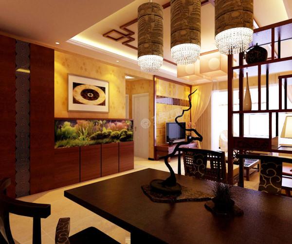 餐厅家具现代而不失古风 照明灯具简洁现代满足了照明的需求