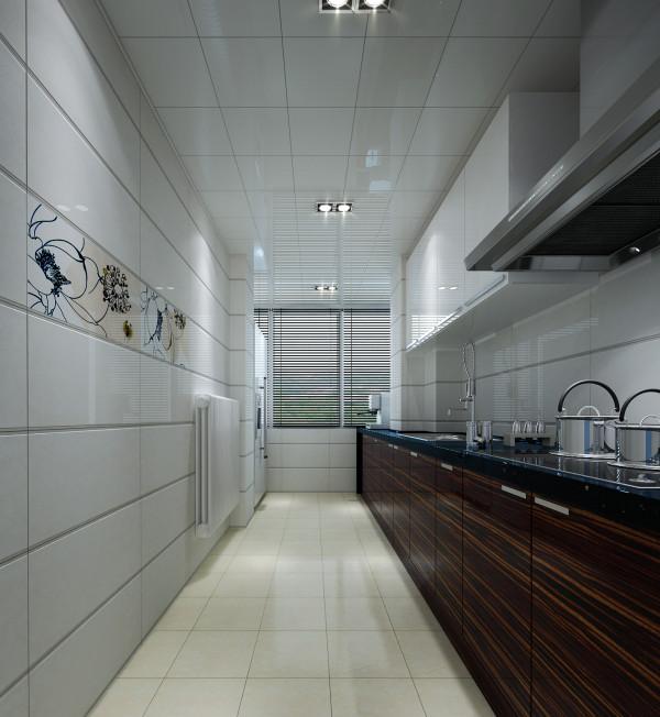 设计理念 :原始户型的厨房并不大,由于没有采光,看着不够明亮,设计师在不影响厨房正常使用的需求把阳台与厨房合为一体,使得整个空间宽敞明亮,使厨房使用率更高。