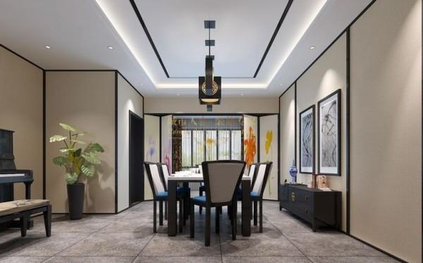 西安城市人家-甘肃平凉电厂家属院-新中式-150平米三居室装修设计